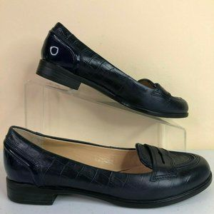 Circa Joan & David Alexes Blue Leather Loafers